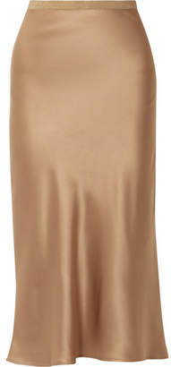 Anine Bing Toast Silk Midi Skirt - Gold