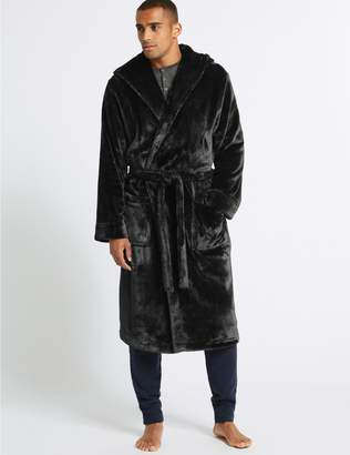 Hooded Dressing Gown Mens - ShopStyle Australia