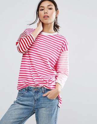 ASOS T-Shirt in Oversized Cutabout Stripe $35 thestylecure.com
