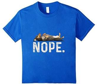 Nope Lazy Dachshund T-Shirt