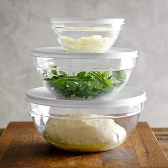 Williams-Sonoma Williams Sonoma Glass Mixing Bowls with Lid, Set of 3