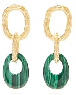 Lizzie Fortunato Evergreen Malachite Drop Earrings - Womens - Green