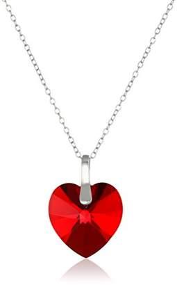 Swarovski Sterling Silver Elements Heart Pendant Necklace