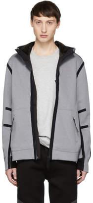 Isaora Silver Circuit Hooded Zip Jacket