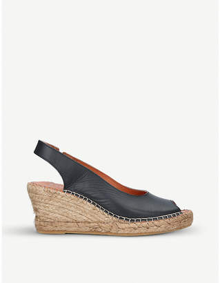 Carvela Comfort Sharon leather slingback wedge sandals