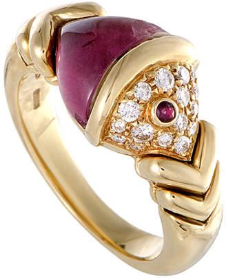 Bulgari Heritage  18K 0.75 Diamond & Gemstone Ring