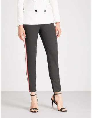 Missguided Striped-panel crepe trousers