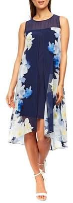 Wallis Floral Split Front Sleeveless Dress