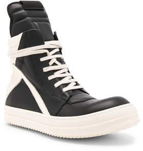 Rick Owens Leather Geobasket Sneakers