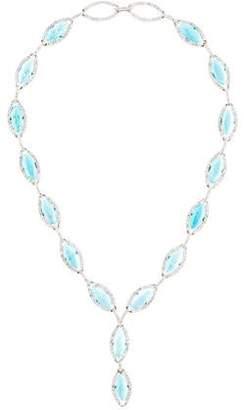 18K Turquoise & Diamond Necklace