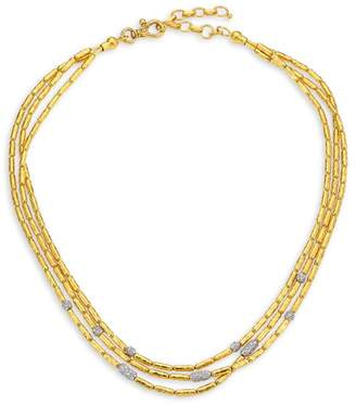 Gurhan Vertigo Pave Triple Strand Diamond Pave Necklace