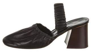 Celine Square-Toe Leather Mules