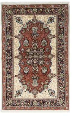 "Solo Rugs Sarouk Paris Hand-Knotted Area Rug, 4' 5"" x 6' 10"""