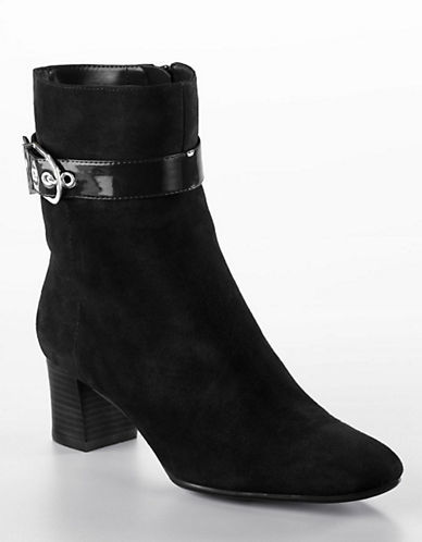 Anne Klein Anne Klein Chelsey Leather Ankle Boots
