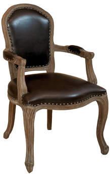 LOFT Home Concepts Carolina Leather Weathered Wood Armchair