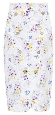 Max Mara Ginseng floral-printed cotton skirt