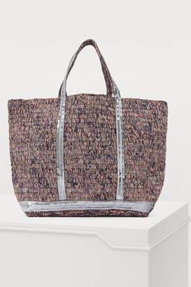 Vanessa Bruno Medium sequined raffia tote