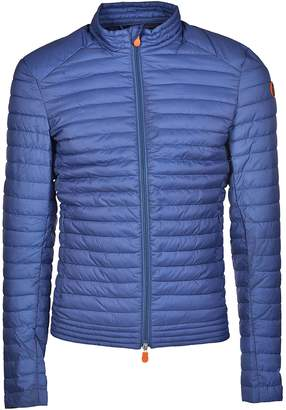 Save The Duck Dull Logo Patched Sleeve Padded Jacket