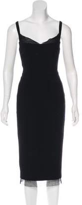 Rebecca Vallance Lace-Trimmed Midi Dress