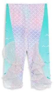 Little Girl's Mermaid Scales-Print Pants