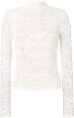 See by Chloe crochet knit top