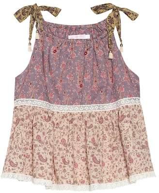 Zimmermann Kids Juniper Flounce cotton top