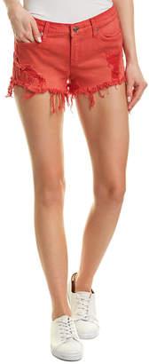 Kenzie Hudson Jeans Red Alert Cut Off Short