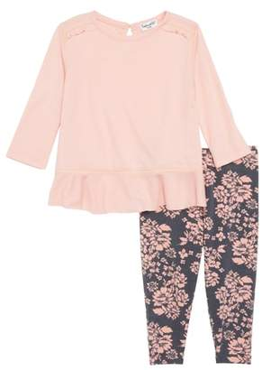 Splendid Ruffle Hem Top & Leggings Set