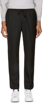 Public School Black Wool Ilyn Track Pants $395 thestylecure.com