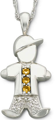 JCPenney FINE JEWELRY Sterling Silver Birthstone Boy Charm Pendant Necklace