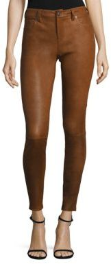 Polo Ralph Lauren Stretch Leather Skinny Pants $998 thestylecure.com