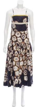Dries Van Noten Silk Floral Print Dress