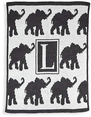 Butterscotch Blankees Personalized Walking Elephants Cashmere Blanket