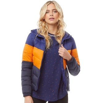 cab8b748087a6 Only You Womens North Quilted Panel Hood Jacket Blueprint Marmalade Night  Sky