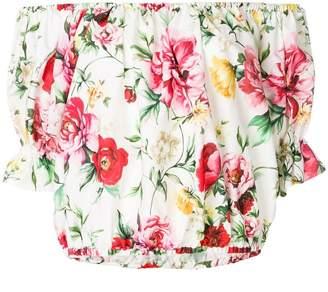 Dolce & Gabbana off-shoulder floral print top