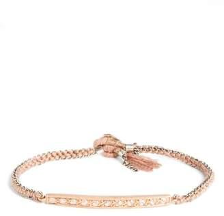 Brooke Gregson Diamond 11 Rose Gold, Silk & Silver Bracelet