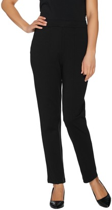 Bob Mackie Pull-On Ponte Knit Ankle Pants w/ Front Seam