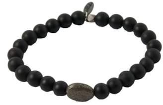 Ettika Mr. Onyx & Pyrite Stretch Bracelet