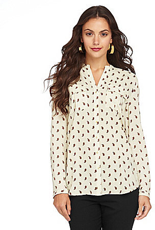 Vince Camuto TWO by Paisley Military Blouse
