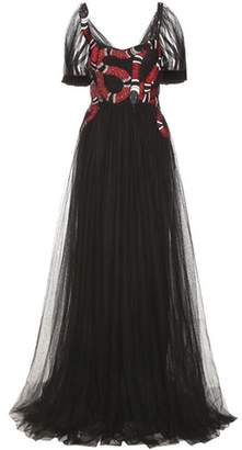 Gucci Embellished tulle gown