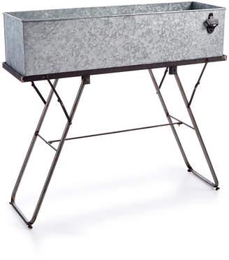 3r Studio Galvanized Metal Beverage Tub & Stand
