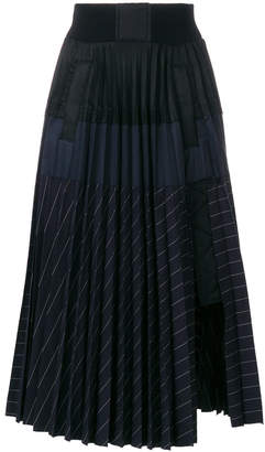 ... Sacai micro-pleated skirt