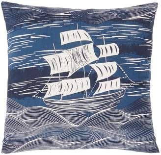 Linea Poseidon Boat Print Cushion