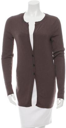 Vera Wang Cashmere Rib Knit Cardigan $95 thestylecure.com