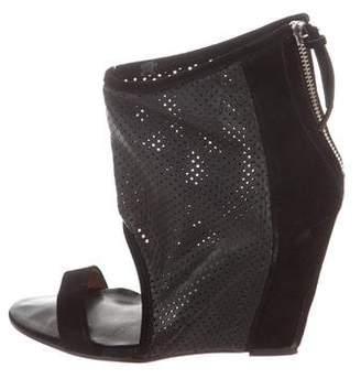 IRO Leather Round-Toe Wedges
