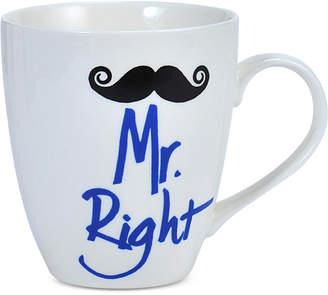 Pfaltzgraff Mr. Right Mustache Mug