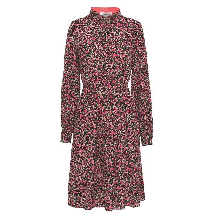 Rebecca Shirt Dress Black and Cream Classy Leopard