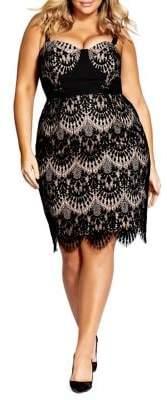 City Chic Plus Lace Jolie Dress
