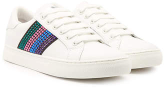 Marc Jacobs Empire Leather Sneakers with Embellishment