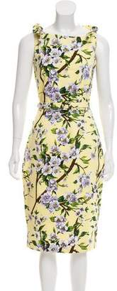 Samantha Sung Floral Knee-Length Dress w/ Tags